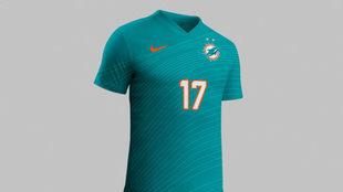 El 'nuevo' uniforme de los Dolphins fue del agrado de sus...