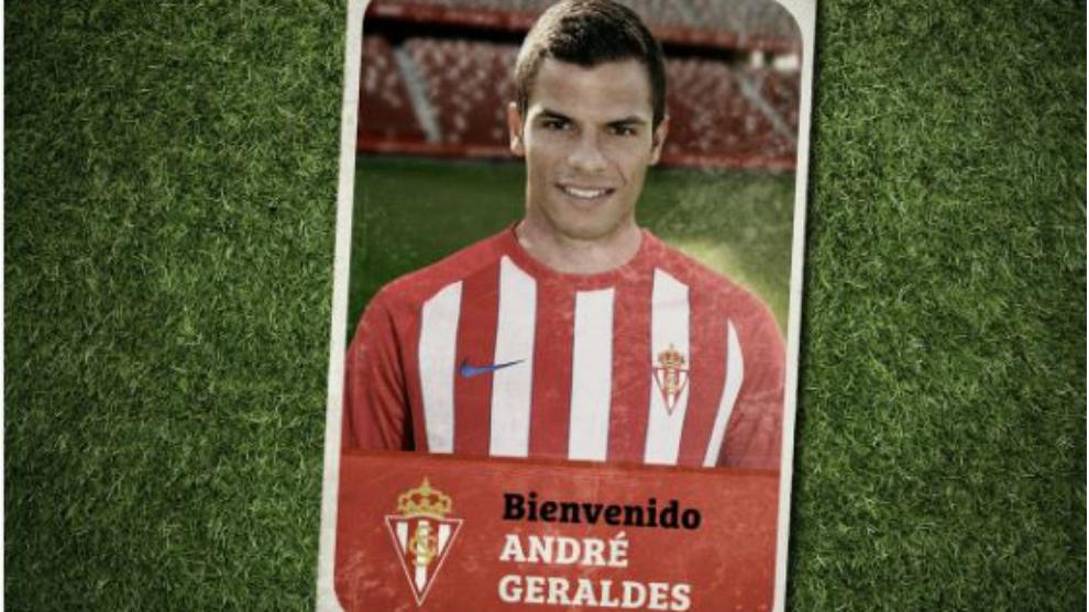Imagen de la web del Sporting anunciando el fichaje de Geraldes.