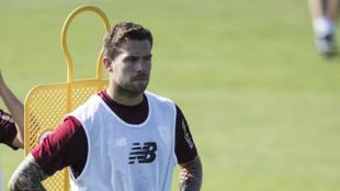 Íñigo Martínez, en un entrenamiento de esta temporada.