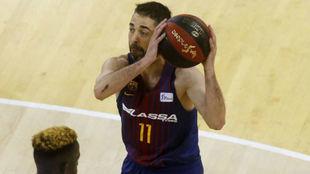 Juan Carlos Navarro jugando en el 'playoff' de la Liga...