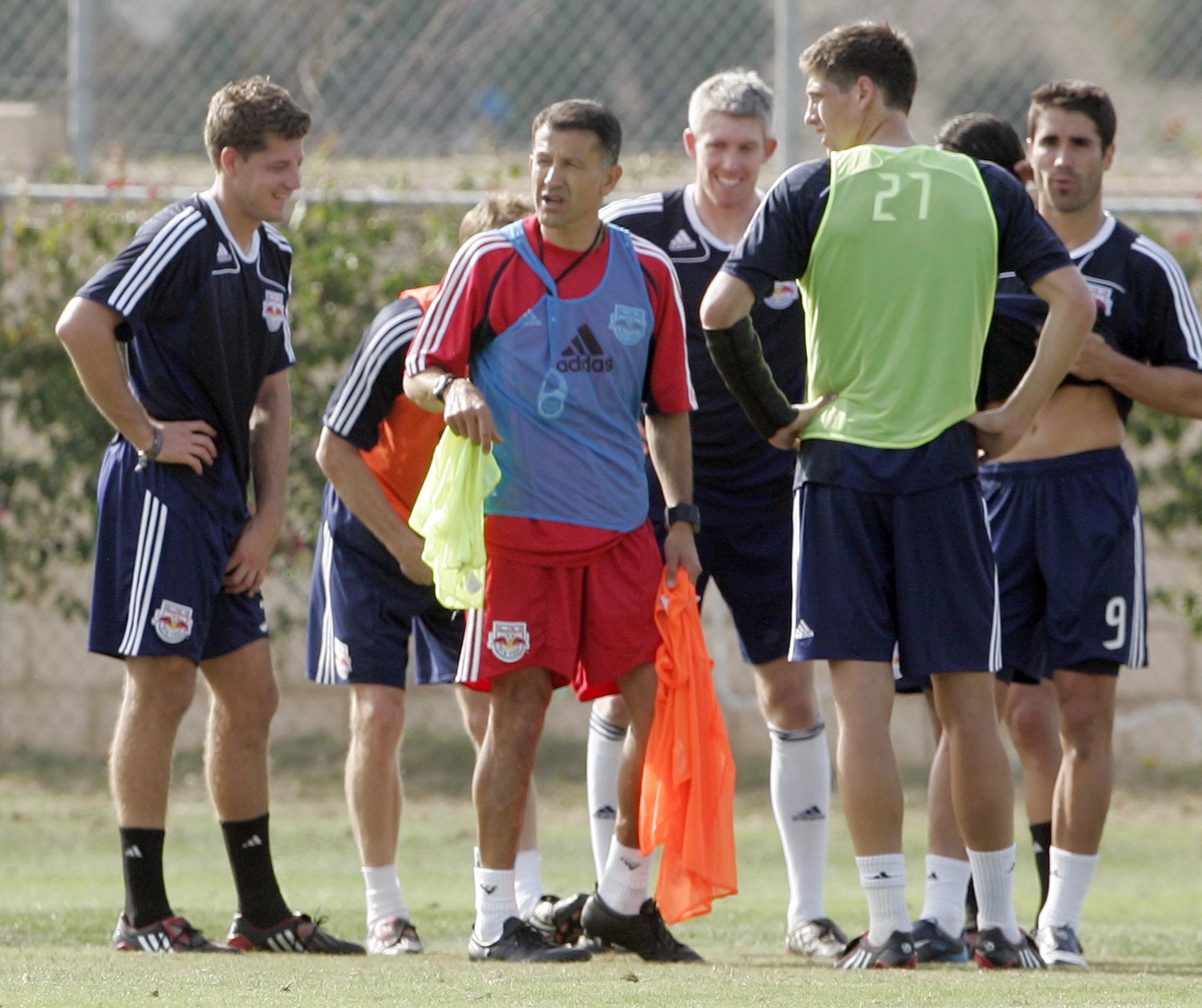 Juan Carlos Osorio previo a la final de la MLS Cup de 2008.