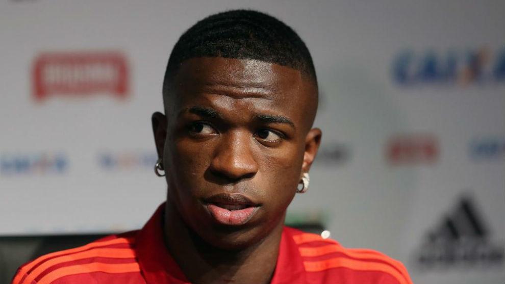 Vinícius, en su despedida del Flamengo