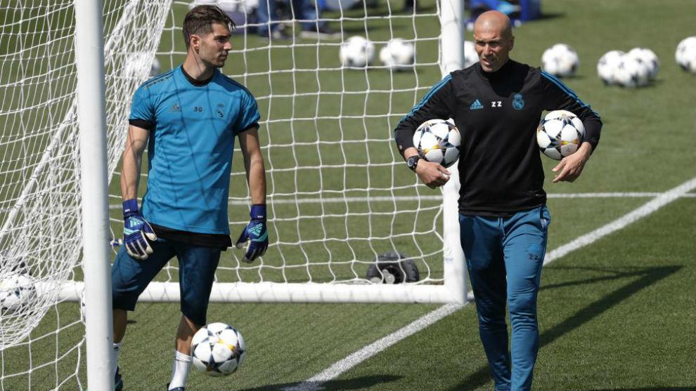 Luca y Zinedine, durante un entrenamiento la pasada temporada
