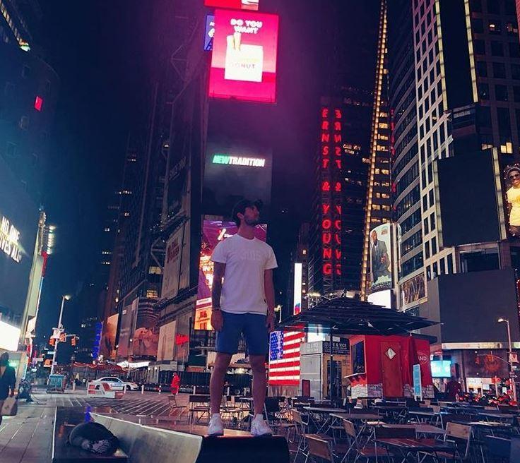 Isco Alarcón, en Nueva York, donde está con su novia Sara Sálamo