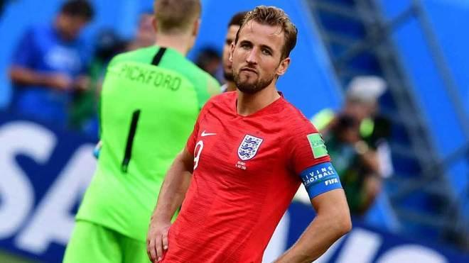 Kane, con gesto serio en el partido ante Bélgica.