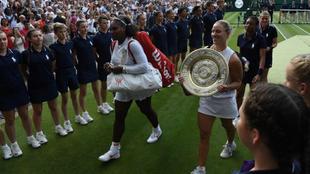 Angelique Kerber and Serena Wiliams.