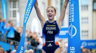 Cassandre Beaugrand, vencedora sorpresa en Hamburgo.