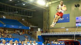 Néstor Abad, en la prueba de salto de los Juegos Mediterráneos de...