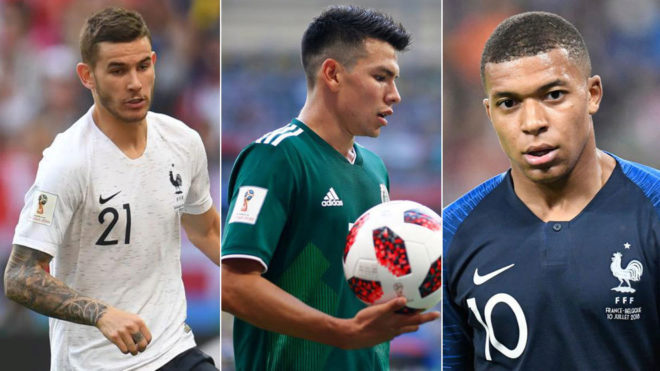 Lucas Hernandez, Lozano and Mbappe