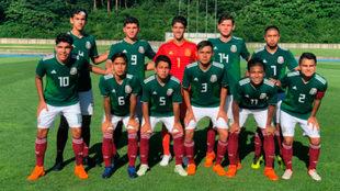 Selección mexicana Sub-18 que disputa el torneo de Niigata