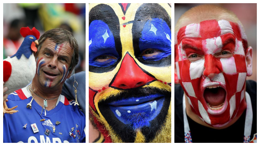 The best photos as fans dress-up for the final