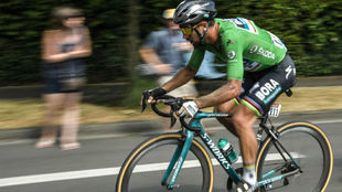 Peter Sagan durante la novena etapa del Tour de Francia.