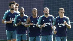 Entrenamiento de pretemporada del Barça.