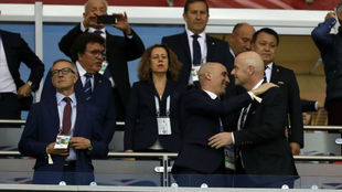 Rubiales and Infantino.