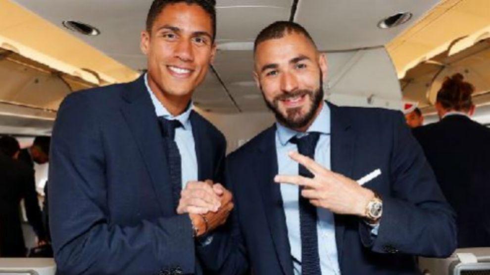 Varane and Benzema.
