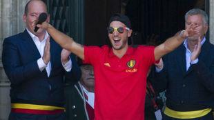 Hazard, en la celebración de Bélgica por el tercer puesto en el...
