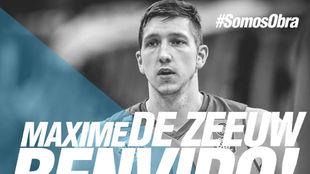 Así daba la bienvenida el Obradoiro a Maxim de Zeeuw en su página...