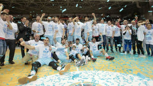 El Breogán celebró por todo oo alto su ascenso a la ACB.
