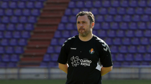 Sergio González dirige el entrenamiento del Real Valladolid