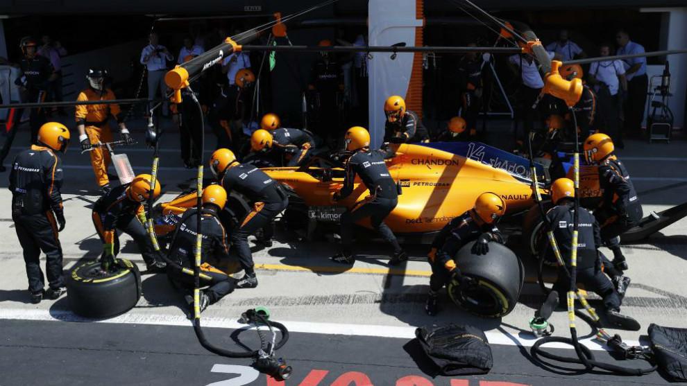 Coche de Fernando Alonso.