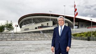 Enrique Cerezo en el Wanda Metropolitano