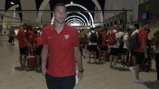 David Soria, antes de viajar rumbo a Benidorm.