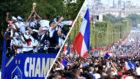 Locura en Francia durante el recibimiento a los campeones