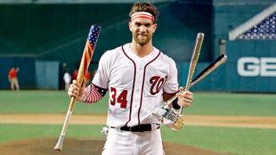 Harper se coronó en su segunda participación en el Home Run Derby de...