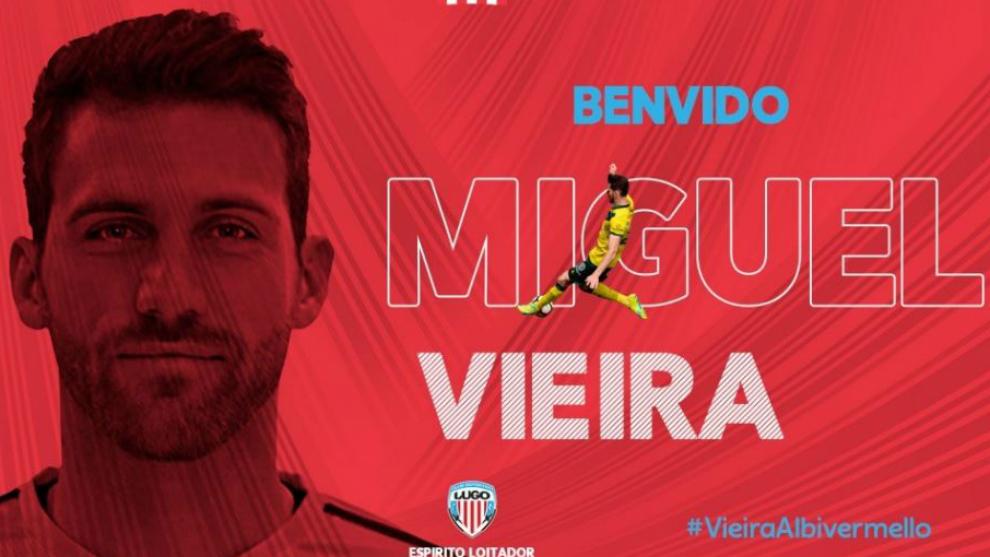 Anuncio del fichaje de Miguel Vieira en la web del club.