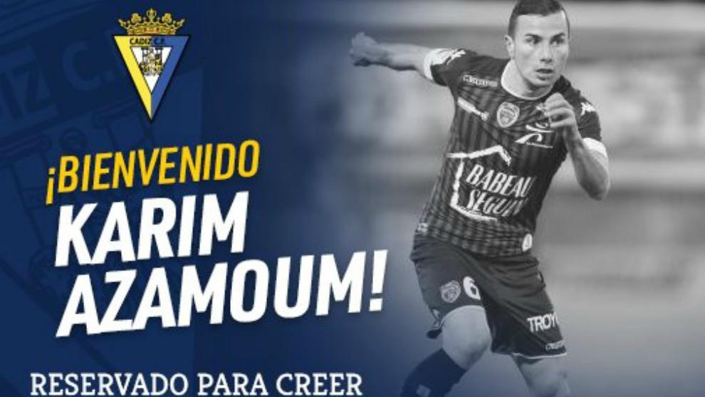 Azamoum es el último fichaje confirmado por el Cádiz.