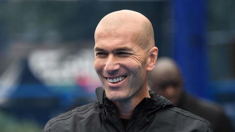 Zidane, en su etapa en el Madrid.