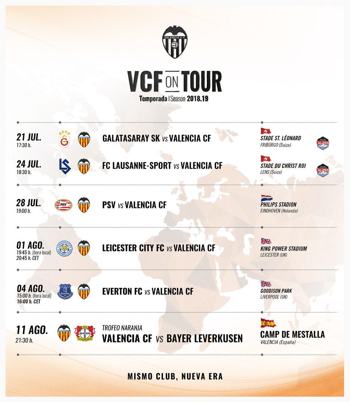 5864e2c388be5 Valencia CF  Pretemporada Valencia 2018  calendario de partidos ...