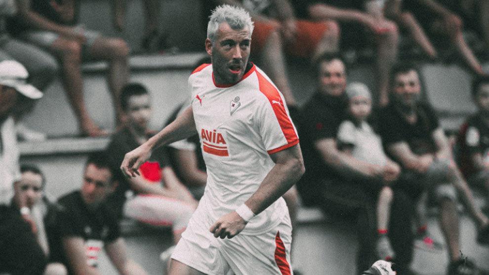 Sergi Enrich, durante el partido ante el Tudelano