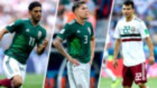 Carlos Vela, Carlos Salcedo e Hirving Lozano.