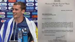 The president of Uruguay invites Griezmann to his country