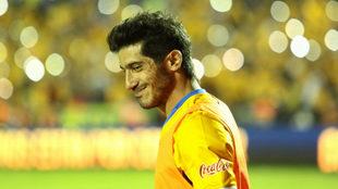 Damián Álvarez, en un partido con Tigres