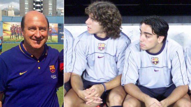 Joan Vilà and two famed Barca talents