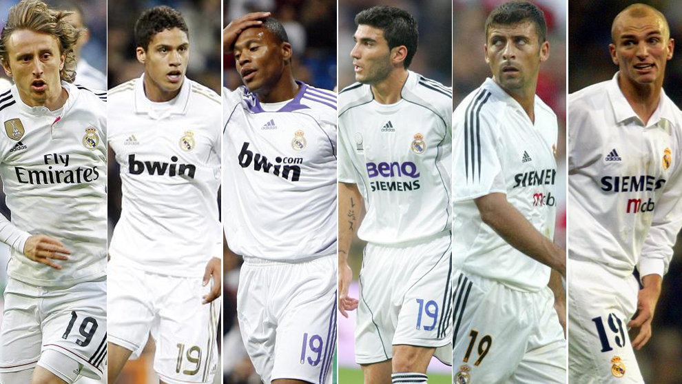 transfer market real madrid the players who wore real madrid s no