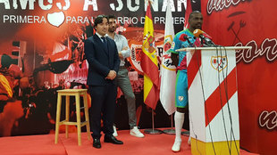 Presentación de Gael Kakuta con el Rayo Vallecano.