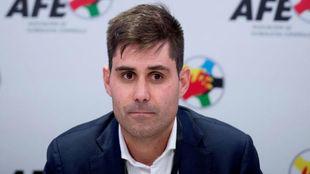 El presidente del sindicato de futbolistas AFE, David Aganzo.