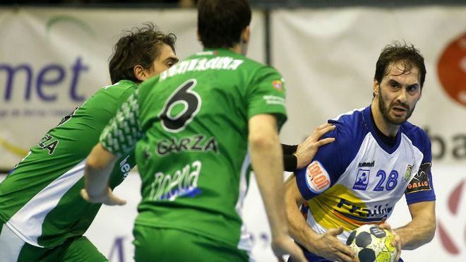 Jorge Silva, en un partido con el Granollers ante el Anaitasuna