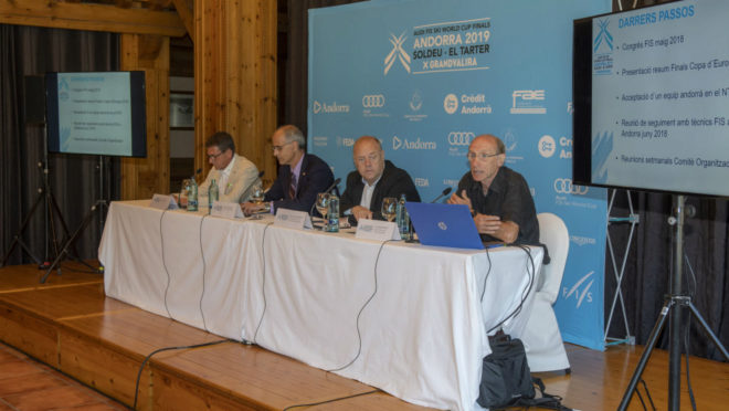 Reunión del comité de honor de la Copa del Muindo de esquí alpino...