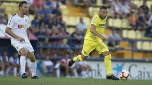 Santi Cazorla, durante su regreso con el Villarreal.