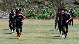 Entrenamiento de la selección mexicana sub-21 en Barranquilla