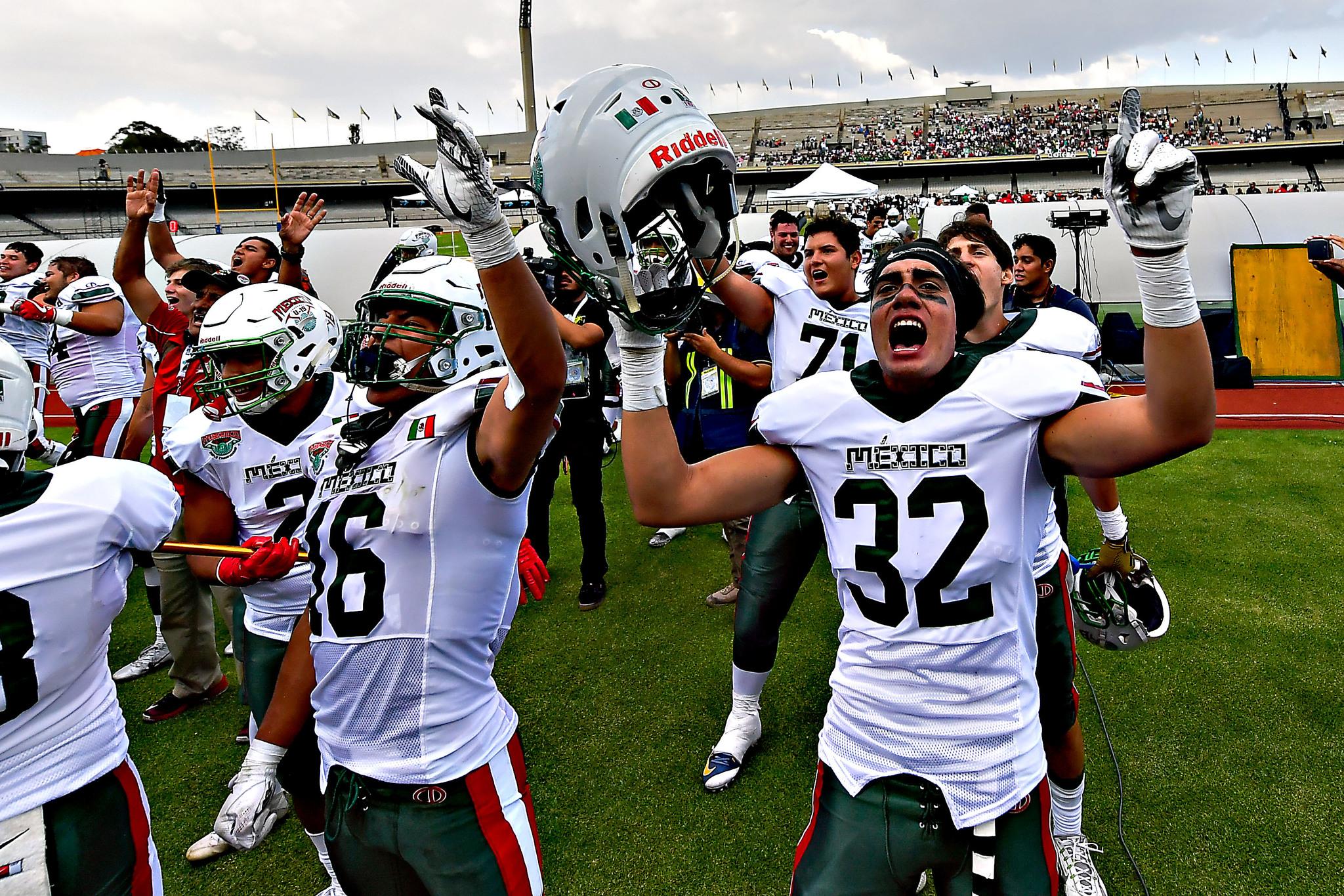 Mundial sub 19 fútbol americano  Histórico triunfo de México ante ... aaf4d7959b2