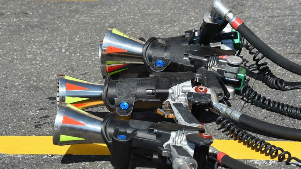 Pistolas de cambio de neumáticos de McLaren