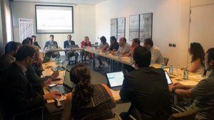 Aspecto de la reunión convocada por la RFEDI con los diferentes...