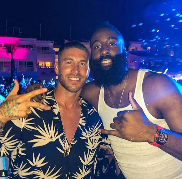 Sergio Ramos and James Harden