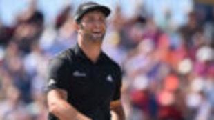 Jon Rahm, sonríe durante la primera jornada del British Open.