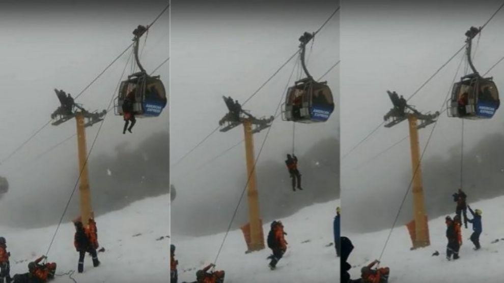 El operativo en Cerro Bayo duró unos 40 minutos y entre los atrapados...